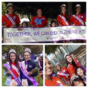 California Queens for National American Miss at the San Jose Walk for Alzheimer's
