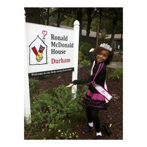 Carter Brown, North Carolina NAM Jr. Pre-Teen, donates her time to Ronald McDonald House