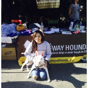 Celinda Ortega, NAM Finalist, donated her time to Halfway Hounds for her National American Miss Community Service Project