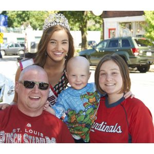 Emily Bray, Miss Missouri Jr. Teen, makes friends and volunteers with Friends of Kids With Cancer