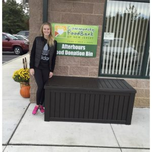 Emma DeLury, National American Miss Finalist, volunteers at the Community Food Bank of New Jersey