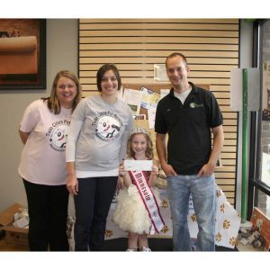 Grace Nester, Miss Minnesota Princess, collects and donates money to the Twin Cities Pet Rescue