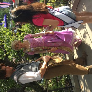Miss Long Island with Rapunzel and FLYNN RIDER