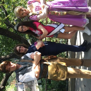 Miss Long Island + Mom with Rapunzel and Flynn Rider