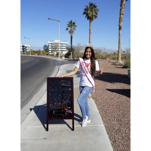 Kailyn Domingo, Miss Nevada Jr. Teen, donates her time to a blood drive for the American Red Cross