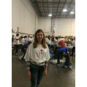 Lauren Schwartzberg, National American Miss New York Finalist, volunteers with The American Red Cross for Hurricane Sandy Relief