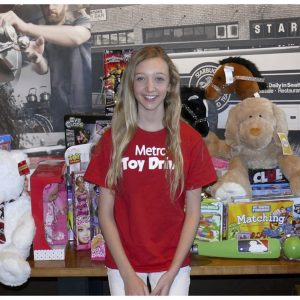 Madeline Monlux, National American Miss Finalist, helped to raise over 30,000 toys for the Metro Toy Drive in Oregon