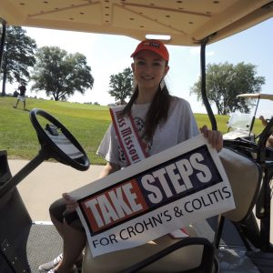 Maryn White, Miss Missouri Jr. Teen volunteers with the Crohn's and Colitis Foundation of America