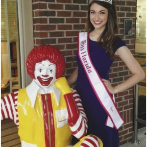Michaela Jacobs, Miss Florida Teen for National American Miss, volunteers her time to the Ronald McDonald House Charities for her Community Involvement Project