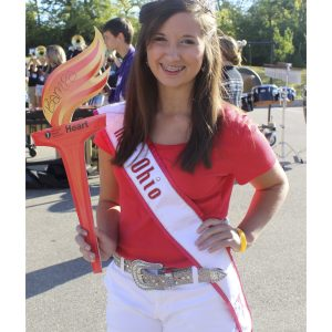 Mikayla Colwell, Miss Ohio Jr. Teen giving back to her self-created organization The Crowning Hearts to raise funds for The American Heart Association