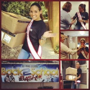 Miss Florida, Mee-Ladie Delgado, gives back to Project My House, for her National American Miss Community Service