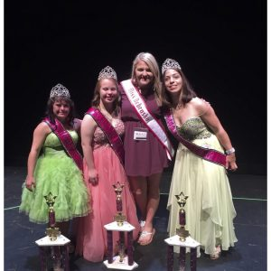 Miss Nebraska, Amanda Hayes, volunteered at the Miss Amazing Pageant for her NAM Community Service Project