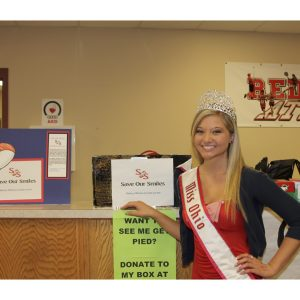 Miss Ohio Jr. Teen, Bailee Mayne, donated dental hygiene products to the less fortunate through Save Our Smiles
