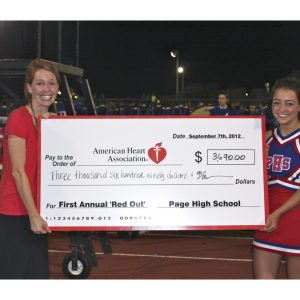 Miss Tennessee Jr. Teen, Alexandra Wallace, volunteered with the American Heart Association throughout Middle Tennessee for her NAM Community Service Project