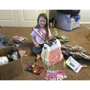 "Miss Washington Princess, Hailey Stroh, collected donations to make ""Wish Packs"" for the Make-A-Wish Foundation"