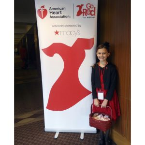 NAM Finalists, Maria Decaro of New York, donates her time to the Amerian Heart Association