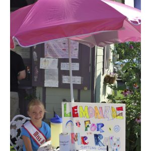 NAM Miss New York Princess, Shayna Cook, created a Lemonade Stand to raise money for cancer patients
