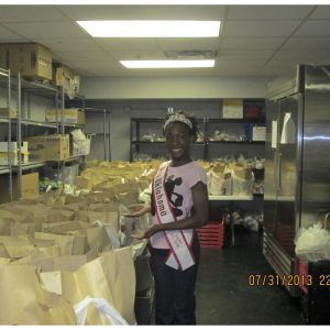 National American Miss Oklahoma Pre-Teen, Ebony Clark gives back at the Iron Gate Downtown Soup Kitchen