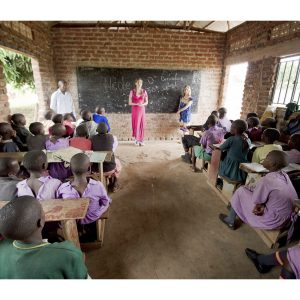 Nicole Flippo and Jordan Flippo travel to Uganda, Africa with Reading for Africa to set up libraries and donate over 9,000 books