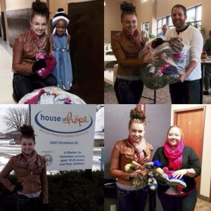 Paige Kassner, Miss Wisconsin Teen, is the founder of Warm Hands Warm Hearts Project that collects and distributes winter gear across Wisconsin for her NAM Community Involvement