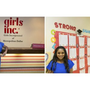 Tiffany Ekanayake, National American Miss Texas Finalist donated birthday gifts and fund-raised to buy wish list items for girls at Girls, Inc of Metropolitan Dallas.