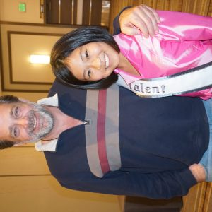 Elena (Colorado) with Jonathan Goldstein after accepted into CGTV VIP Program this June 2017