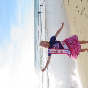I love NAM! Taken at the Santa Monica Beach - 2016 Miss Colorado Princess)