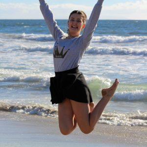Anna on the beach