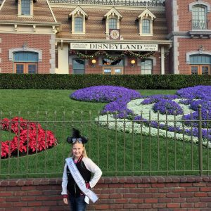 Ella at Disneyland