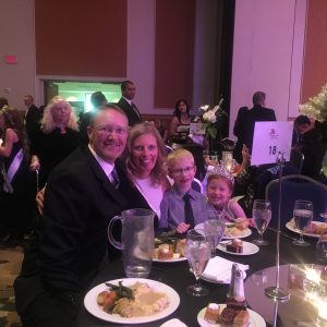 Brooklyn Bissett, 2016 Miss Colorado Princess and her family at the Thanksgiving Banquet