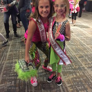 JPT Maci Williams with Ella ready for the neon party