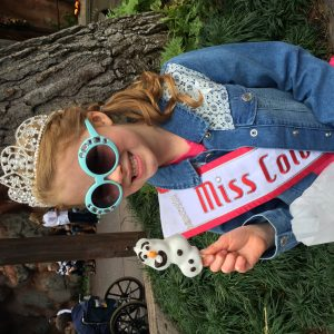 Enjoying a special Olaf treat at Disneyland! (2016 Miss Colorado Princess, Brooklyn Bissett)