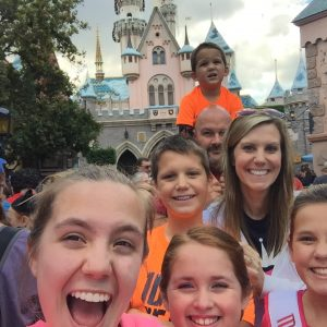 JPT Maci Williams with her family and Rubie at the castle