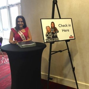 Starting National American Miss Open Call with a smile from the New Jersey State Queen!
