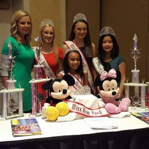Presenter and queen's at the National American Miss Open Call