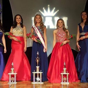 Iowa Jr. Teen and her court at the National American Miss Iowa State Pageant