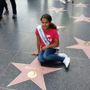 Miss Indiana Pre-Teen Cover Girl 2016 Carmello Arredondo on the Hollywood Walk of Fame