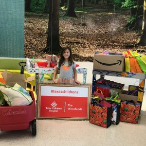 #CarsynCAN Carsyn collected supplies to create 500 Halloween craft kits for Texas Children's Hospital.