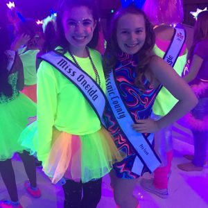 Alexa and Stephanie at the neon party