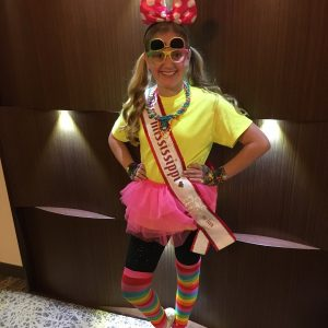 2017 MS Pre-Teen Queen rocking her neon attire