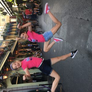 All american preteens Samantha and Madison having fun at Disney!