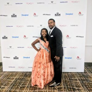 2017 NAM NNY Pre-Teen Dajania James and Daddy as Escort.