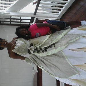 With princess Tiana