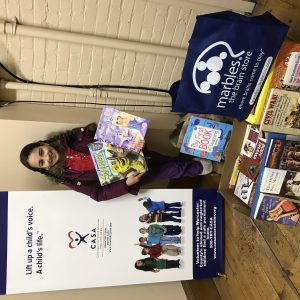 "Junior Pre-teen National Finalist, Adele Fuzaylov has organized a holiday ""book drive"" for the abused and neglected children in the CASA program, and together with the Jewish Federation of Central Mass collected about 200 books!"
